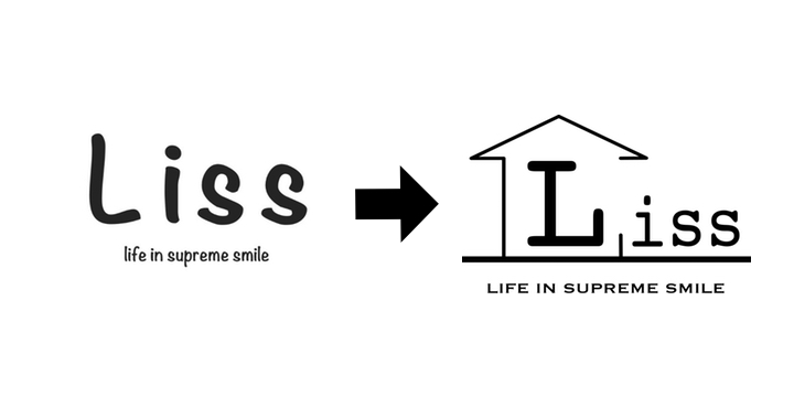 【Liss】のロゴマークができるまで。2ヶ月間、何度も試行錯誤して作った大切なロゴです。