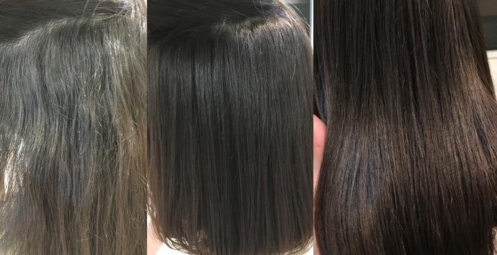 【Liss恵比寿HP見てのご来店】人生で初めてロングからミディアムにイメチェン。97%トリートメント縮毛矯正で大人っぽい黒髪ワンカールストレートに