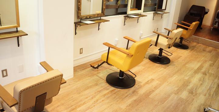 Liss恵比寿の店内のこだわり②実はお客様が座る椅子も・・・