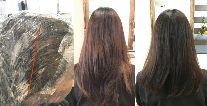 数本の白髪が気になり始めたら『根本だけ白髪染め・それ以外はおしゃれ染め』で赤みを消したカラーも◎