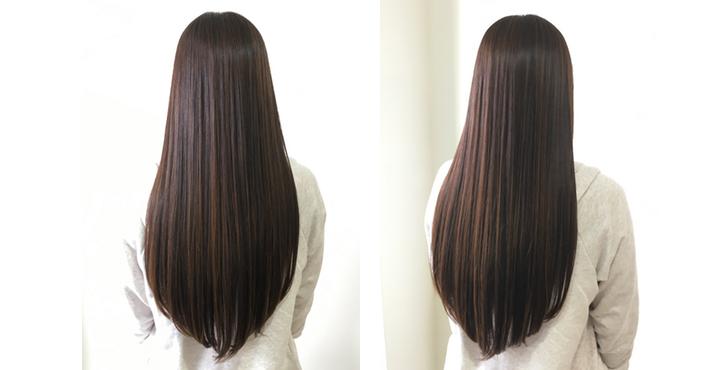 縮毛矯正やカラーをしても可能な限りダメージレスにすることで綺麗な美髪ロングは作れます。