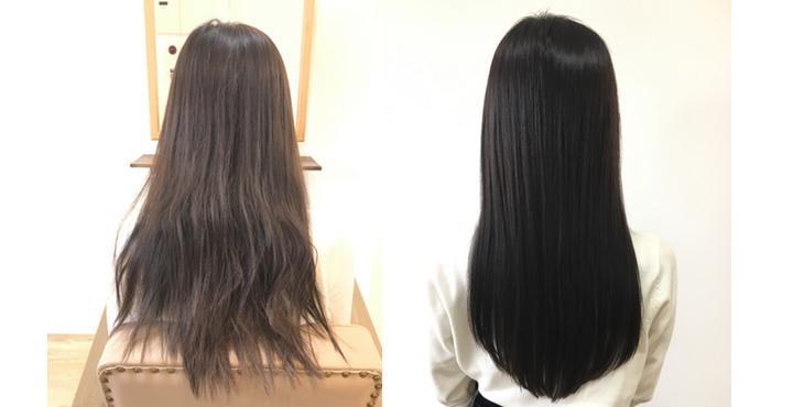 TOIKIOトリートメント&暗髪オリーブで柔らかく透明感のあるヘアカラーで美髪に。