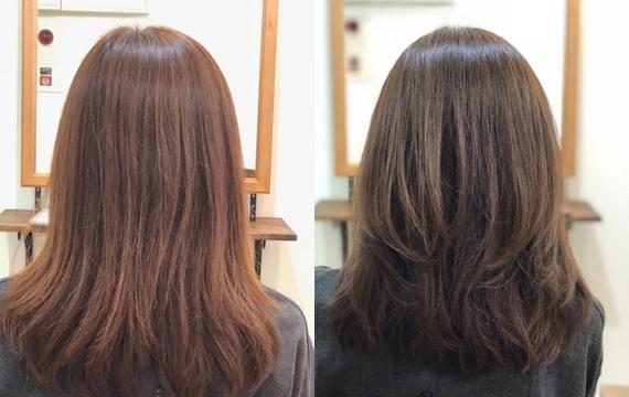 【白髪の悩み】白髪染めでも明るく、赤みのない透明感のあるヘアカラーに