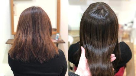 97%トリートメント縮毛矯正&カラーで美髪に