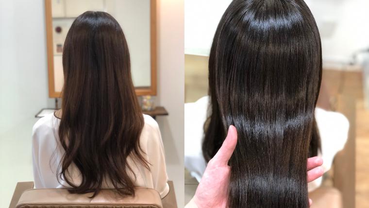 97%トリートメント成分縮毛矯正で自然な艶髪