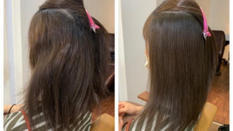 97%トリートメント成分縮毛矯正髪質改善