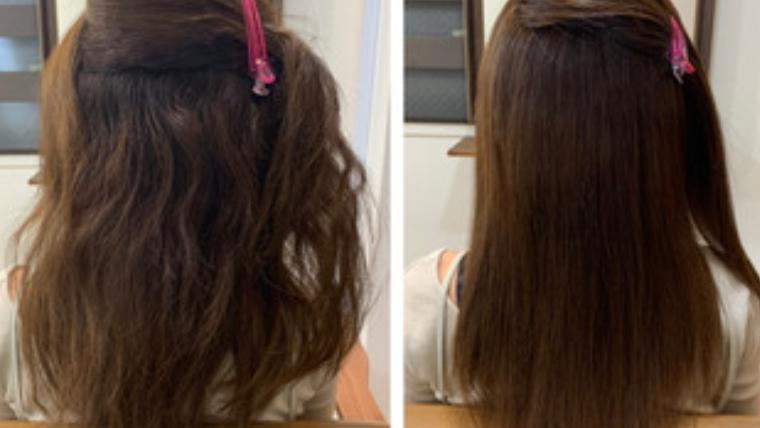 ハイトーンカラーに97%トリートメント縮毛矯正髪質改善