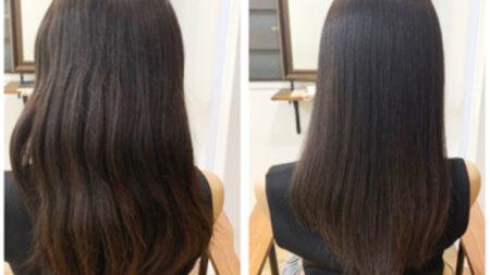 97%トリートメント成分縮毛矯正髪質改善でツヤサラ!